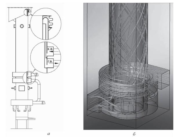 Радиационный рекуператор для вагранки открытого типа