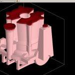 Рисунок 3а – Усадочные дефекты в непрозрачном 3D-виде