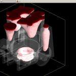 Рисунок 3б – Усадочные дефекты в прозрачном 3D-виде