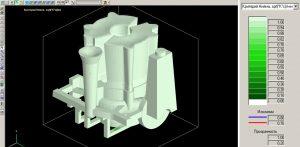 Рисунок 4а – Микропористость в непрозрачном 3D-виде