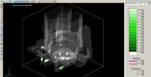 Рисунок 4б - Микропористость в прозрачном 3D-виде