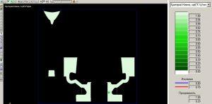 Рисунок 4в - Микропористость в сечении XZ