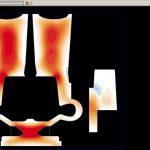 Рисунок 5б – Максимальное растягивающее напряжение (сечение YZ)