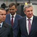губернатора Курганской области Вадим Шумков на открытии литейного цеха в Кургане